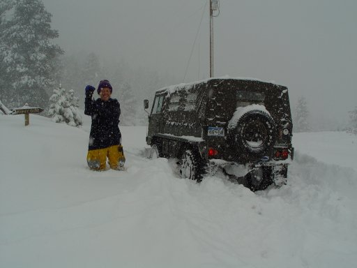 The Blizzard of 2003 had many of our trucks out when others could go nowhere.